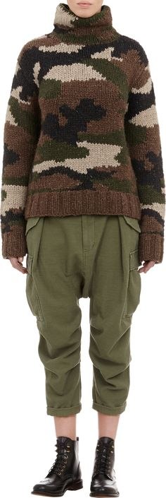 NLST Camouflage Sweater at Barneys.com