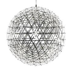 """Designer Raimond Puts redefines the beauty of light. He aspired for his Pendant Lamp to be akin to """"staring into the universe—during cloudy nights."""" A lofty goal, to be sure—but he's succeeded in spades. Based on """"pure mathematics,"""" the intricate sphere features crisscrossing stainless steel strips lined with LED lights, which intersect to create a rapturous and atmospheric ambiance, with tiny, transparent lenses specifically detailed to diffuse a warm white glow in every direction."""