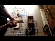 How to drill perfect holes for dowels - YouTube