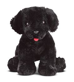 Benson Black Lab Puppy Dog Stuffed Animal | Animal Toys | Melissa and Doug