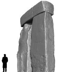 Stonehenge. Corner East, Trilithon Two, Stonehenge.