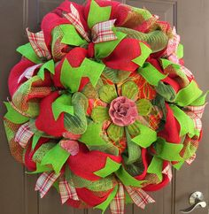 Spring Deco Mesh Wreath Summer Deco Mesh by FestivalofWreaths, $83.00
