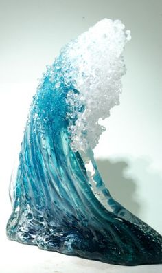 Wave Glass Sculpture from Kela