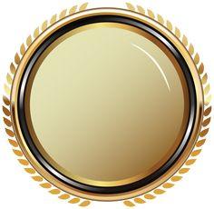 Arany Ovális Badge Átlátszó PNG Clip Art kép