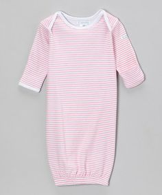 Another great find on #zulily! Pink Sweet Stripe Gown - Infant #zulilyfinds