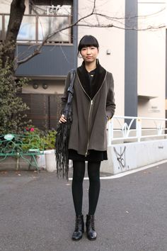 We <3 this look! International Street Style: Tokyo's Avant-garde Winter Layering - The Cut