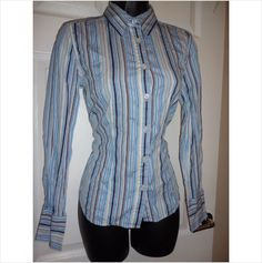 Designer CHARLES TRYWHITT Ladies Stunning Fitted Casual Office Work Blouse Top