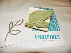 I used an undefined stamp to make a print on curtains! - Erin Cook