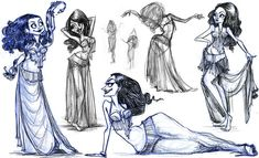 Belly+Dancer+Drawings | Belly Dancer Drawings