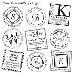 Personalized return address stamp... I love this.  Want!