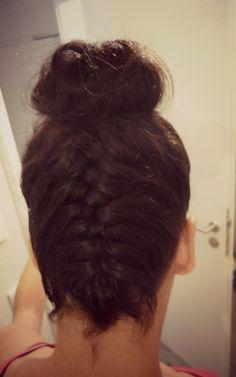 Penteado #coque #trança #amo