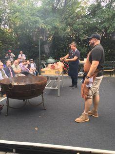 John Torode using the Kadai - Meatopia festival 2016 - The mighty Kadai Firebowl in action on the cutting room stage all weekend! #cuttingroom #meatopia #meatopiauk #meatopia2016 #meat #bbq #outdoorcooking #outdoorliving #firebowl #johntorode #masterchef www.kadai.com or Tel: +44 (0) 1694771800