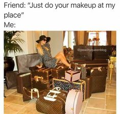 This is why I either have people come to my house to get ready, or I meet them out 😂 #makeup #makeupartist #makeuplife #mua #makeupislife #beauty #beautyblogger #beautyguru #instablogger #instabeauty #instamakeup #follow #instagood #instalike #cosmetics #makeupjunkie #bblogger #makeuplover #beautyqueen