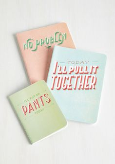 You Jot This! Notebook Set. Add some quirky inspiration to your routine with these colorful notebooks. #multi #modcloth