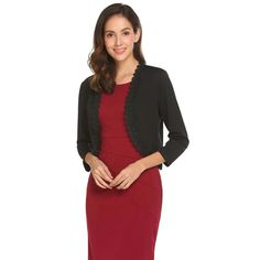 Dark Red//Burgundy Long Sleeve Shrug//Cover-Up Open Front Tunic Cardigan S M L