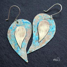ON SALE Handcrafted Eco Friendly Sea Blue by EVIsMetalworkJewelry, €20.40