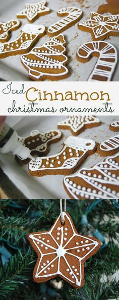 creativemeinspiredyou.com  Create cinnamon spice ornaments for your holiday home, and 'ice' them with fabric paint for scented, fun, decorations. Christmas, ornaments, diy, easy, handmade, homemade, crafts, crafty, kids crafts, christmas crafts, cinnamon ornaments, cinnamon spice, gift tags
