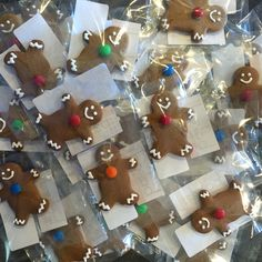 Mini Gingerbread Boys for school lunches