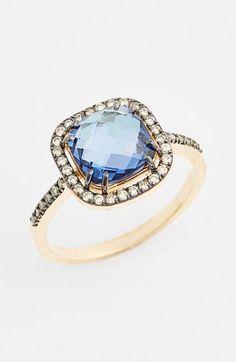 KALAN+by+Suzanne+Kalan+Topaz+&+Diamond+Cushion+Ring+available+at+#Nordstrom