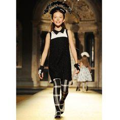 Monnalisa Chic Black Boucle Dress   CHILDRENSALON