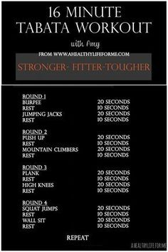 Tabata Workout with Amy Stafford at www.ahealthylifeforme.com #fitnessblendercardio,