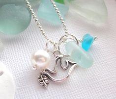 Sea Glass Jewelry Peace Dove. $22.00, via Etsy.