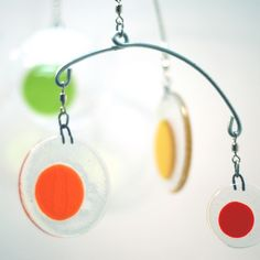 colorful glass mobile dots by LeahPelligrini.etsy @195