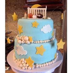Baby boy theme cake