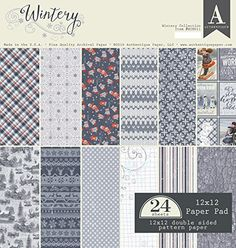 Authentique Wintery 12x12 Paper Pad >>> Click image to review more details.Note:It is affiliate link to Amazon.