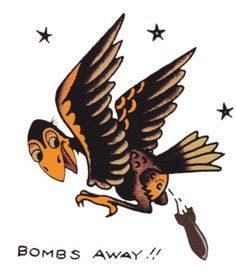 Bomb's Away, Sailor Jerry, T Shirt Design, Rockabilly, Psychobilly, Vulture Graffix, Tattoo Design http://vulturegraffix.onlineshirtstores.com/