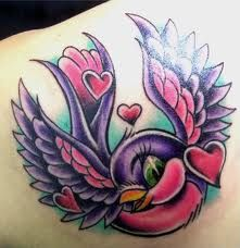 I love new school tattoos!!!  i love this!!!  colors totally rock!!!