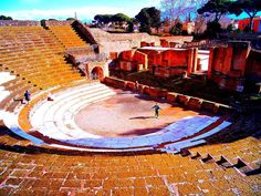 Visiting the Ancient city of Pompeii Italy  in winter.  No crowds. No hot sun.  Fabulous photos in near deserted streets.  Yes travel in winter had its pitfalls but there are many bonuses to it as well as we discovered today. We are currently exploring Italy - 69 countries visited on our world trip so far and we are in our 5th year of nomadic travels. . . . . . . . . . . . .