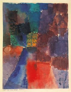 The Yellow House, 1914 Art Print by Paul Klee at King & McGaw
