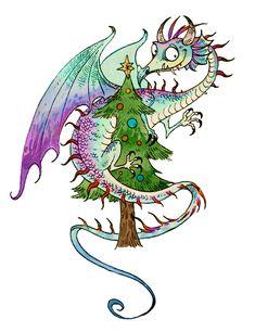 Dragon Christmas 2 by sandara.deviantart.com on @DeviantArt