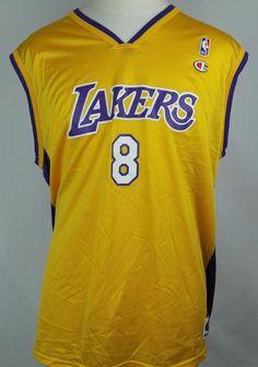 ae7c56ad0 Kobe Bryant Champion Basketball NBA Lakers Jersey - Size 48 Men s XL Extra  Large  Champion