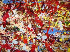 There's a Dragon in my Art Room: Jackson Pollock - day 1 of the mess