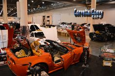 Ricky Jackson's 2011 Custom Chevrolet Corvette at the Houston Corvette Chevy Expo.  The all indoor Chevy Show was held at the Reliant Center (now the NRG Center) Feb. 15-16, 2014. #chevrolet #corvette #showcars #carshow