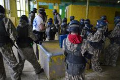 To ensure as little pain as possible, but just as much fun, we turn down the #paintball markers for under 13's