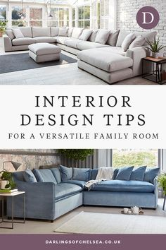 Family rooms need to be versatile, while also stylish and a delight to be in. Read interior designer insights for how to make your family room a beautiful place to be.  #darlingsofchelsea #interiordesign #sofainspiration #familyhome Cheap Office Decor, Cheap Home Decor, Sofa Design, E Design, Design Ideas, Grey Corner Sofa, Sofa Bed With Storage, Luxury Sofa, Luxury Living