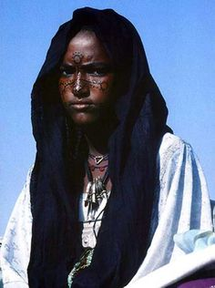 Africa | Young Tuareg woman || Photographer unknown