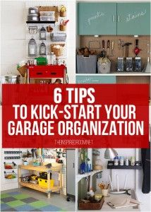 Get 'Er Done! Garage organization tips and inspiration photos that may just jump start your desire to get your garage under control. Via The Inspired Room Clean Garage, Garage Shed, Garage House, Diy Garage, Garage Workshop, Garage Tools, Garage Ideas, Organized Garage, Workshop Ideas