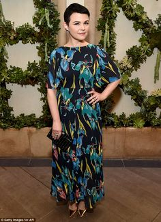 Ginnifer Goodwin cuts a striking figure in floral maxi-dress at AFI Awards | Daily Mail Online
