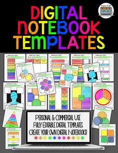 Digital Notebook Templates for Personal and Commercial Use ($)