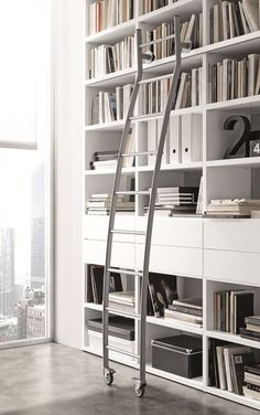Open wall-mounted sectional bookcase Pari&Dispari - COMP 337 - @presottoitalia