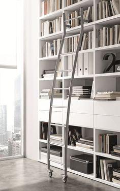 Open wall-mounted sectional bookcase Pari&Dispari - COMP 337 - @presottoitalia
