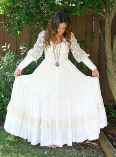 Vintage Lace Bohemian Wedding dress