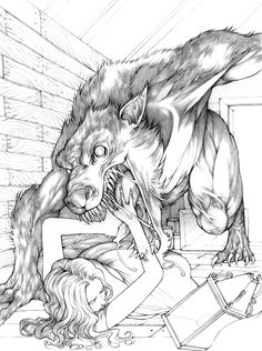 old hollywood horror lineart - Google Search