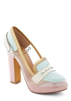 Penny Loves Kenny Laraine Platform Pump in Mint/Cotton Candy Colors.     #ModCloth