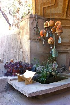 huge sculptural wind chimes for a tranquil corner - Arcosanti wind bells