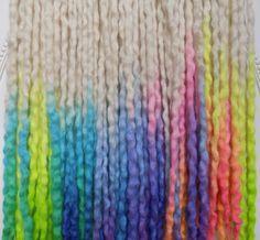40DE Rainbow Frosting UV Locs 1723 Total by NVCL3ARBVTT3RFLY #dreads #wooldreads #locs #masham #curly #wavy #wool #natural #texture #boho #summerstyles #beachhair #sunflower #sunset #sunrise #extensions #hair #hairstyles #rainbow #pride #ombre #plur #atomicturquoise #platinum #blonde #hairchalk #candy #rave #uv #blacklight #sandart #alternative #burningman #woolies #synths #DE #cheyennelehale #nvcl3arbvtt3rfly
